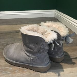 Gray Low Cut Ugg Boots